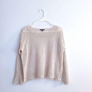 EILEEN FISHER Linen Knit Sweater Silk Camisole PS